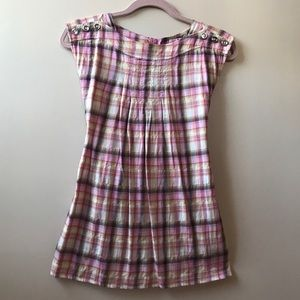 Juicy Couture Girls Pink Plaid Dress, size 7